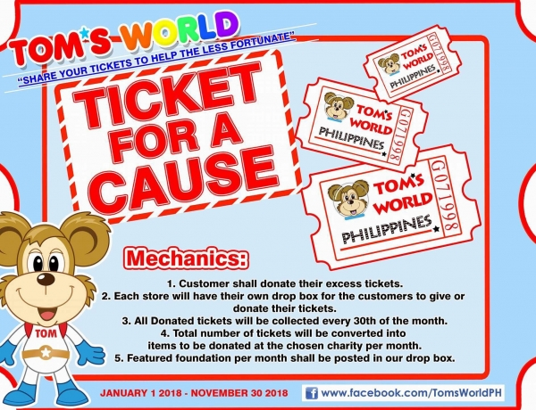Share your tickets to help the less fortunate!
