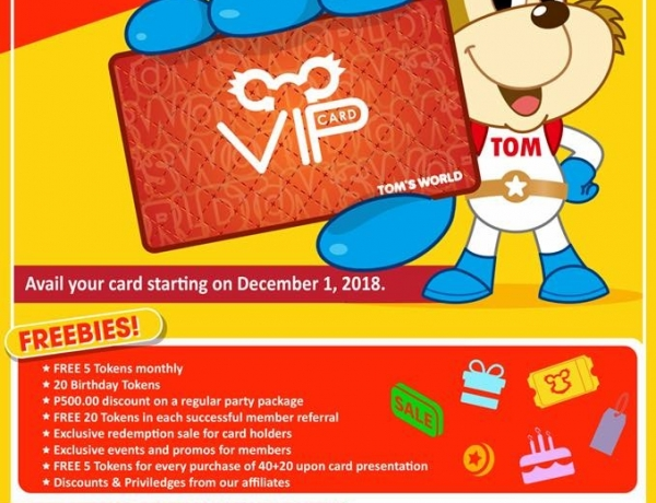 Tom's World VIP Card!