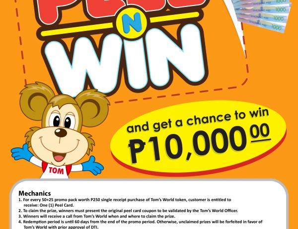 Get a chance to win P10,000 instantly!  Please see poster for more details!