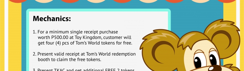 The more you shop, more token rewards for you!